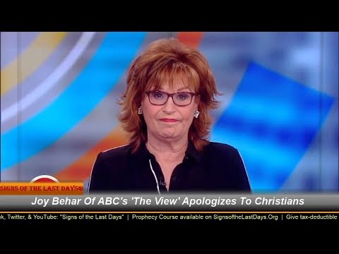 Joy Behar Apologizes For Saying Christians Mentally iLL