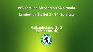 VfB Fortuna Biesdorf vs. SD Croatia (Landesliga Berlin 14. Spieltag)