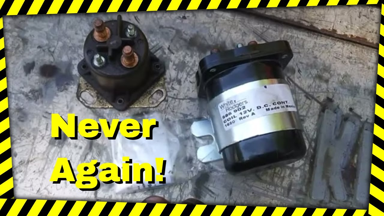replacing  glow plug relay solenoid    ford