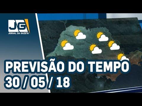 Previsão do Tempo - 30/05/2018
