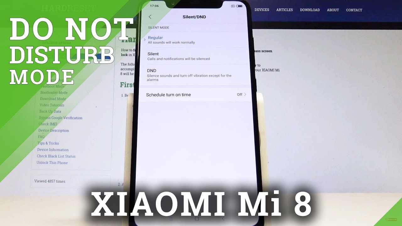 How to Allow Do Not Disturb on XIAOMI Mi 8 - Allow DND / Mute Sounds