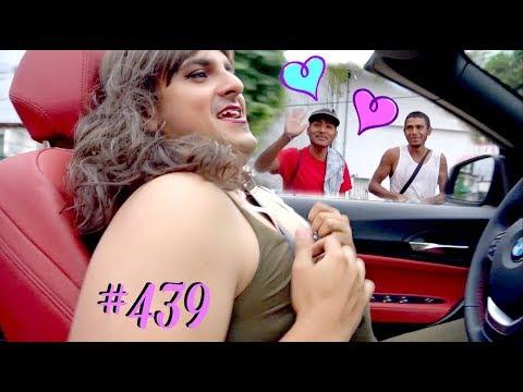 SALGO A LA CALLE VESTIDO DE MUJER *se enamoran de mi* / #AmorEterno 439