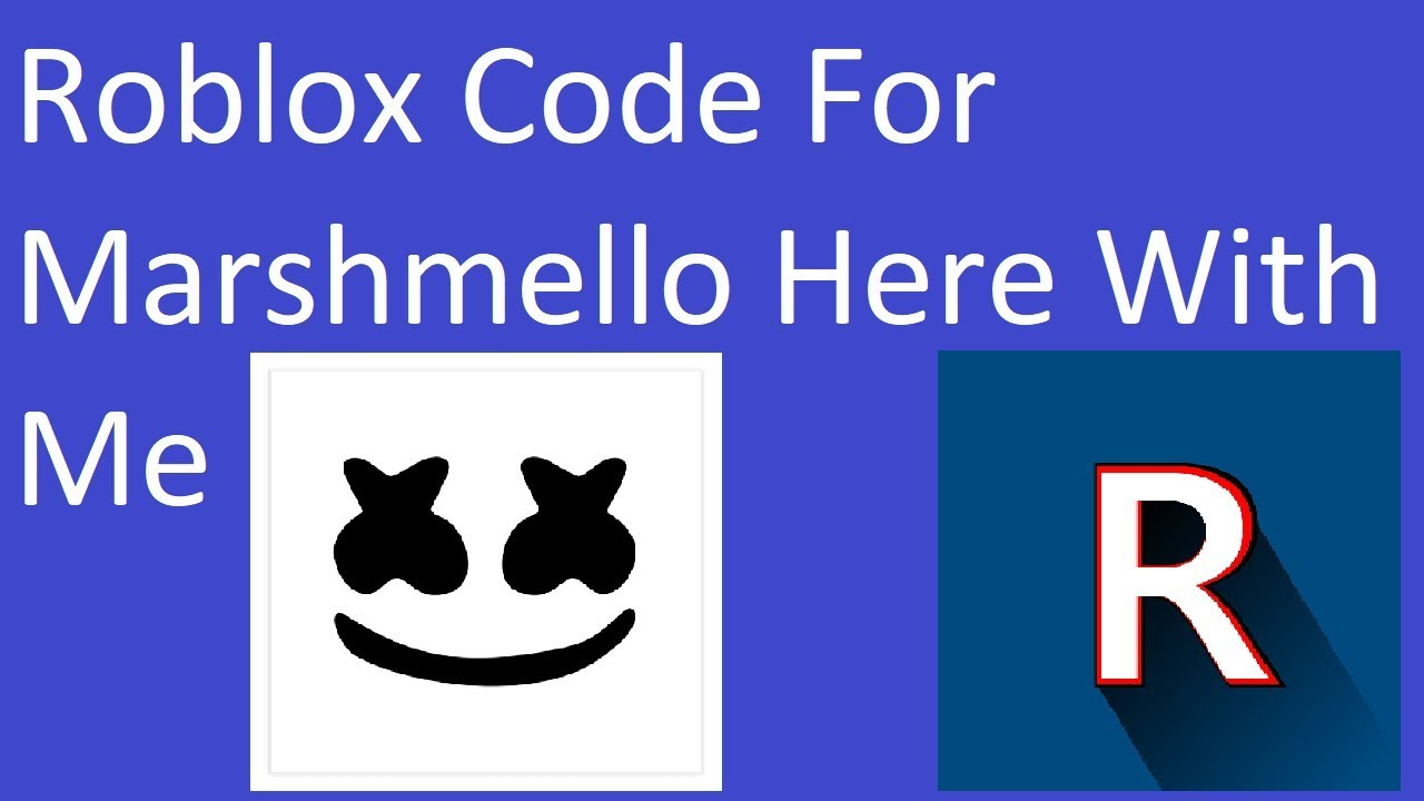 Roblox Code And Id For Marshmello Here With Me Youtube