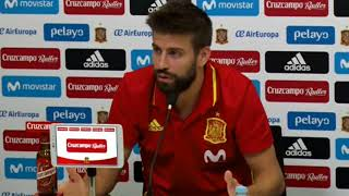 Piqué explica el conflicto catalán: