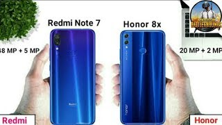 Redmi note 7 vs honor 8x pubg,speed test, comparison who wins ???