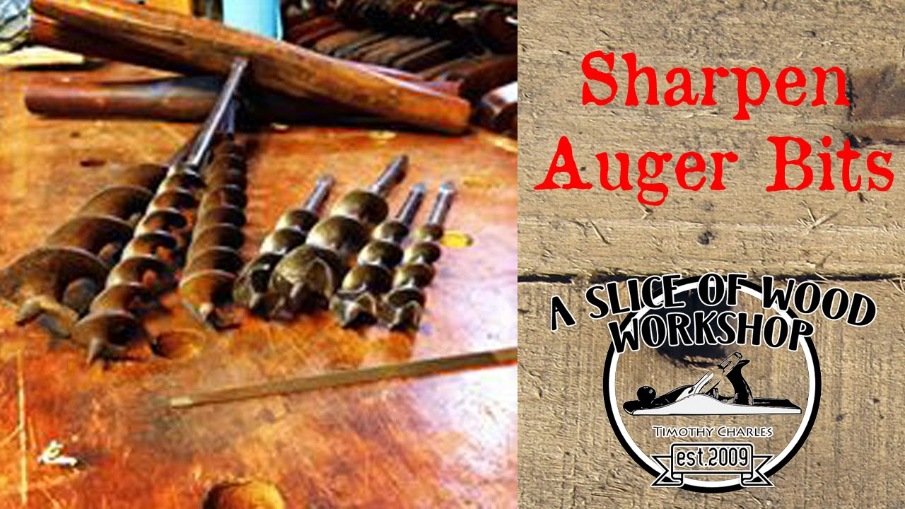 How To Sharpen Auger Bits Youtube