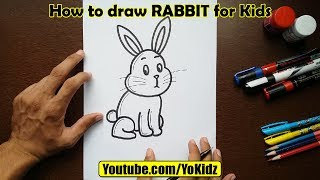 How to draw RABBIT for Kids