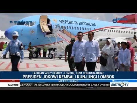 Jokowi Kunjungi NTB Pantau Pencairan Dana Rehabilitasi Lombok