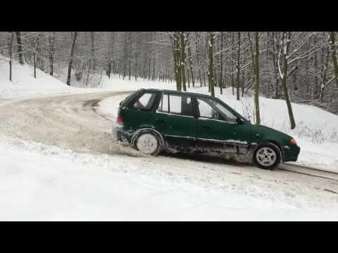 Subaru Justy Snow Drift