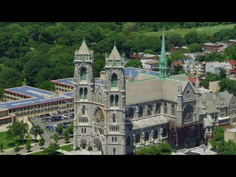 Flyby the Cathedral Basilica of the Sacred Heart, Newark, New Jersey   AX83_092