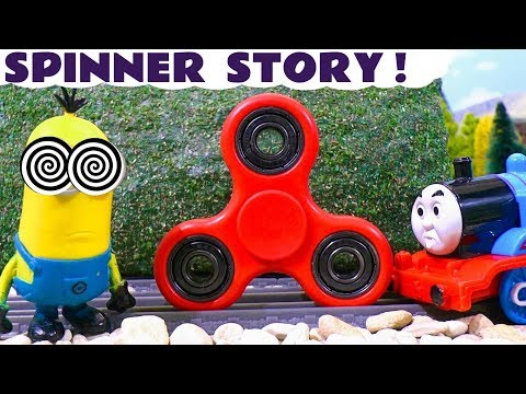 Bad Toy Train Hypnotize Fidget Spinner Despicable Me Minions Prank - Thomas Tom Moss Train toys TT4U