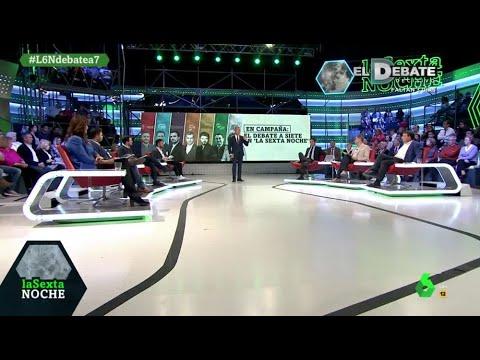 El minuto final de los representantes de los siete partidos del debate de la Sexta Noche