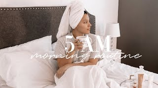 HOW TO BECOME A MORNING PERSON I 5 AM MORNING ROUTINE