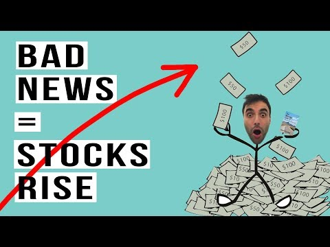 Stock Market BAD News = GOOD News. The Stock Market Will NEVER Crash!