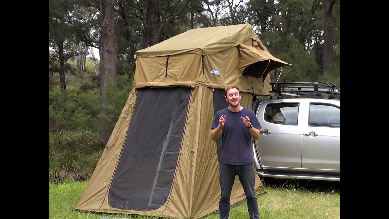 Adventure Kings Roof Top Tent Installation adventure kings roof top tent and 4 man annex is the perfect set up for  whole family!