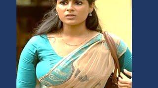 Mallu actress sweaty in hot blue saree