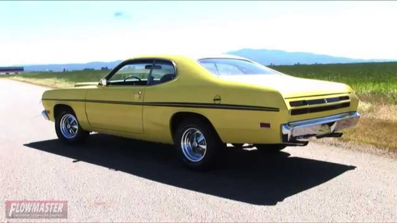 1967 1974 dodge dart plymouth duster valiant performance exhaust rh youtube com 1974 plymouth duster exhaust plymouth duster dual exhaust