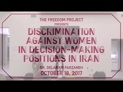 Dr. Delaram Farzaneh - Discrimination against Women in Decision-making positions in Iran
