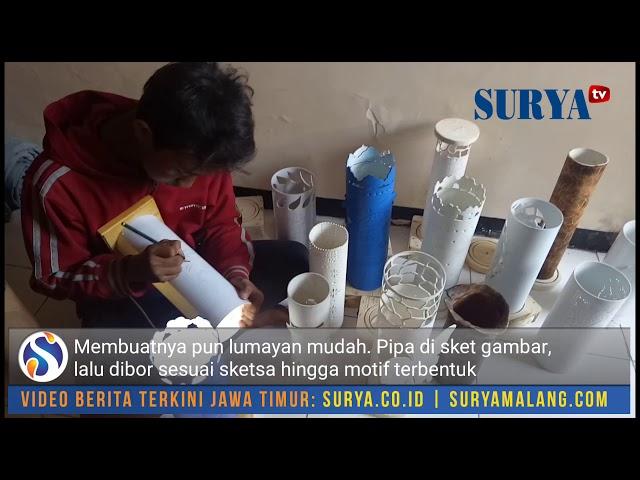 Melihat Proses Pembuatan Lampu Hias Berbahan Pipa Paralon Di Kampung Paralon Banyu Urip Kidul