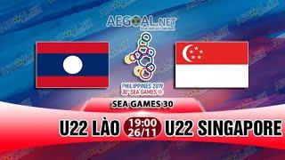 TRỰC TIẾP BÓNG ĐÁ HÔM NAY - LÀO vs SINGAPORE - SEAGAMES 30   26/11/2019