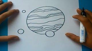 Como dibujar un planeta paso a paso | How to draw a planet