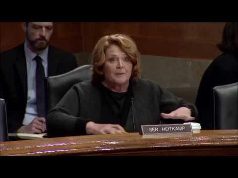 Heitkamp Discusses Importance of Border Security during Senate Homeland Security Hearing