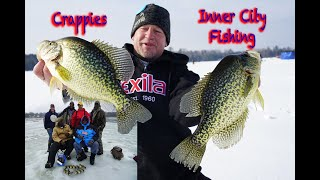 BIG crappies on a SMALL lake/Inner City Honey Hole!