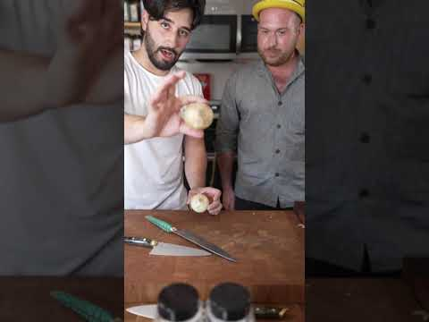 Cutting An Onion With A Knife Maker