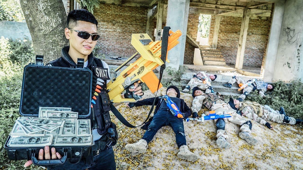 LTT Nerf War : Captain SEAL X Warriors Nerf Guns Fight Crime Dr.Lee Crazy Mortal Battle