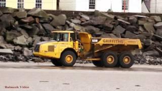 Dump-Truck Racing at Ferryside - Fun on the Beach.