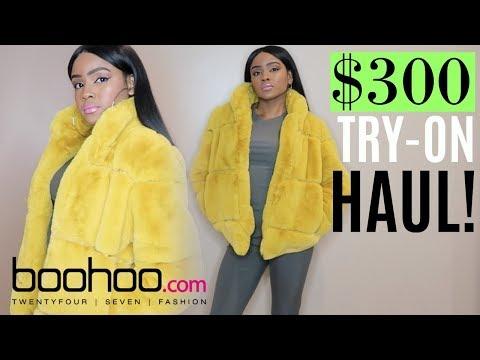 e4bfc3f229aa2 $300 Boohoo TRY-ON HAUL | FAUX FUR COAT | WAS IT WORTH IT? - YouTube