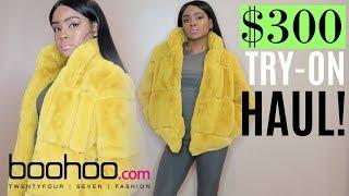 $300 Boohoo TRY-ON HAUL | FAUX FUR COAT | WAS IT WORTH IT?