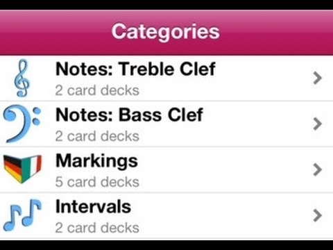 PT Memory Cards Music - Learning to read staff notation - App.
