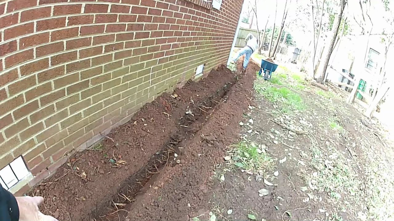 French drain downspout drain install do it yourself for How much more does it cost to build a house