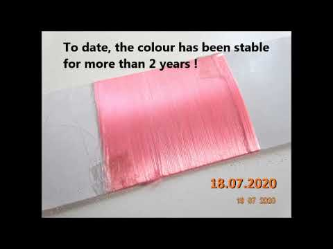 Nylon Fluorescent Masterbatch - Colour Stability Test