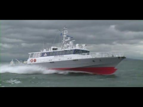 漁業取締船「天龍」 -高速航行-
