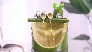 인테리어분수 아이디어 대나무 흐르는물 분수 거실 텔러비…