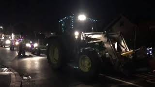 'Drive Into The Night' Christmas lights tractor run gets underway