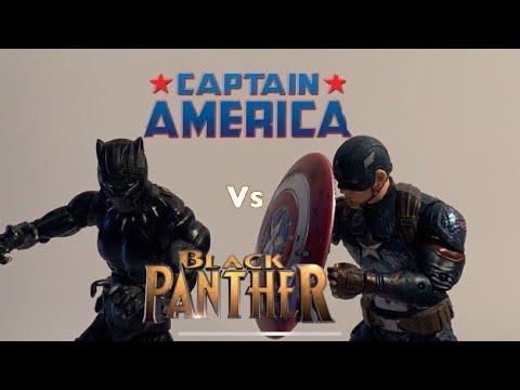 Captain America With Mjolnir Vs Black Panther