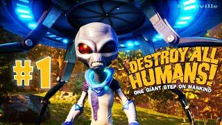 Берегитесь, Людишки! ☀ Destroy All Humans Прохождение игры #1