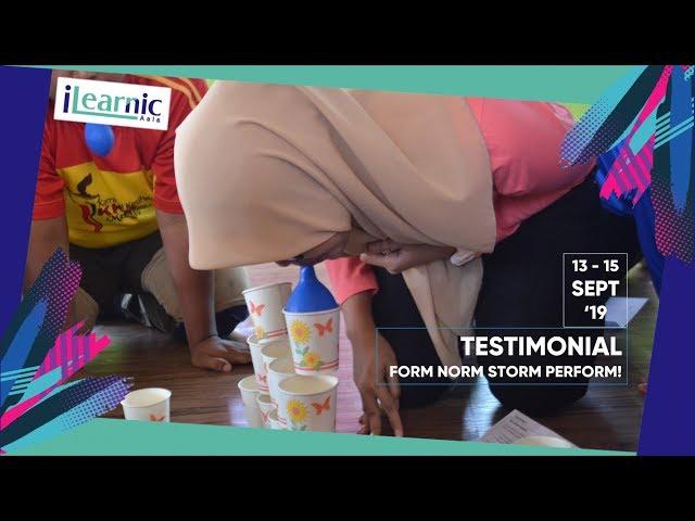 2019 SEP   TESTIMONIAL TEAMBUILDING   FORM NORM STORM PERFORM - PKD