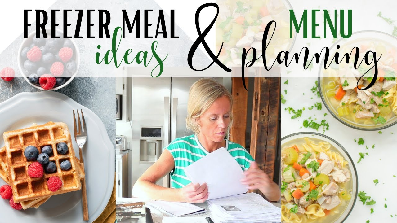 Freezer Meals ~ Menu Planning ~ Healthy Recipes ~ Weekly Meal Planning ~ Meal Ideas ~ Healthy Meals