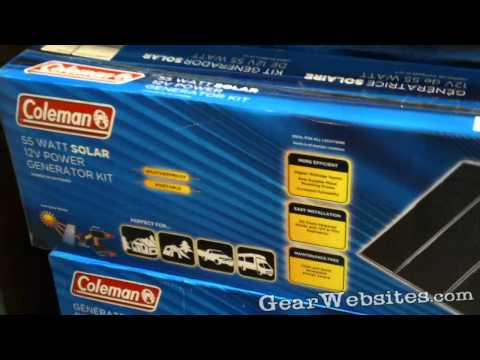 coleman 40 watt solar panel instructions