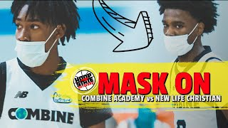 New Face Mask Rule MUST WEAR MASK DURING GAMES Rob Dillingham 19 Combine Academy MERCY RULE