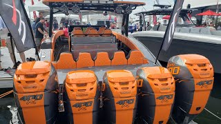 Monster Boats at the Boat Show 2018 FLIBS (4 and 5 engines only )