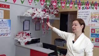 новогоднее оформление зоны ресепшен в детском центре