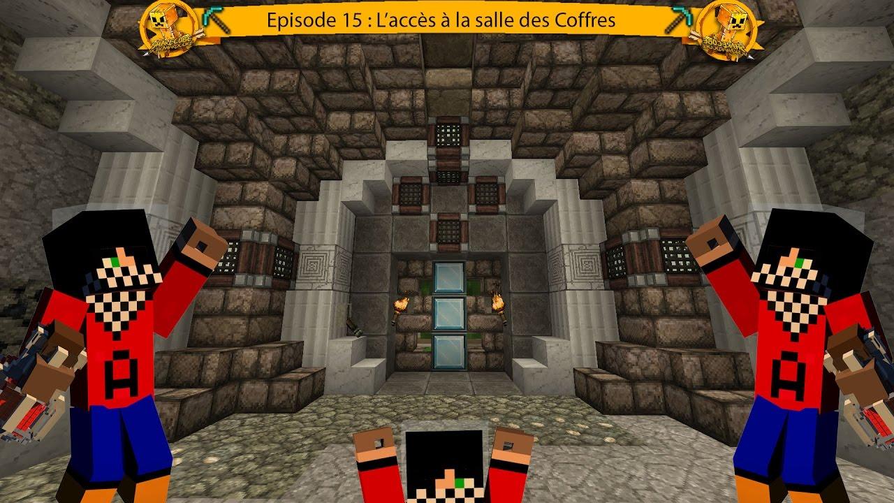 Sharecube ii ep 15 l 39 acc s la salles des coffres for Porte 3x3 minecraft