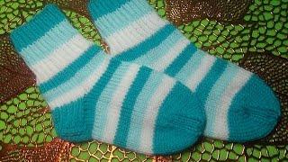 Вязание спицами носки детские #95