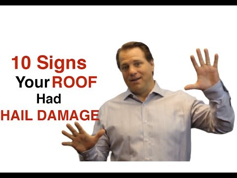 10 Signs That Your Roof Experienced Hail Damage