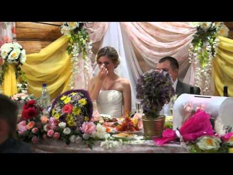Папа поет на свадьбе дочери